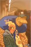 Human Torch No.12 Cover: Human Torch and Thing Posters by Skottie Young