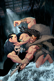 Punisher War Journal No.15 Cover: Punisher and Kraven The Hunter Swinging Poster by Ariel Olivetti