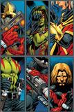 Guardians Of The Galaxy No.2 Group: Gamora, Rocket Raccoon and Adam Warlock Reprodukcje autor Paul Pelletier