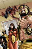 Assault on New Olympus Prologue No.1 Group: Hercules, Spider Woman, Spider-Man and Wolverine Posters by Rodney Buchemi