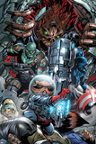 War of Kings No.3 Group: Rocket Raccoon, Drax, Major Victory and Groot Prints by Paul Pelletier