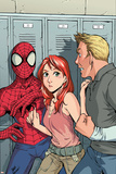 Spider-Man Loves Mary-Jane No.2 Cover: Spider-Man, Mary Jane Watson, and Flash Thompson Posters by Takeshi Miyazawa