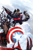 Guardians Of The Galaxy No.2 Cover: Rocket Raccoon and Groot Prints by Paul Pelletier