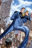 Marvel Adventures Fantastic Four No.46 Cover: Mr. Fantastic and Invisible Woman Posters by David Williams