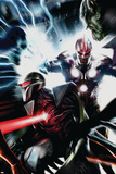Nova No.17 Cover: Nova and Darkhawk Poster by Francesco Mattina