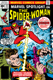 Marvel Spotlight: Spider-Woman No.32 Cover: Spider Woman and Nick Fury Fighting Posters av Sal Buscema
