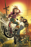 Runaways No.10 Cover: Hayes, Molly and Wolverine Prints by David LaFuente