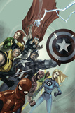 Secret Invasion No.1 Cover: Captain America, Spider-Man, Wolverine, Fantastic Four Posters by Leinil Francis Yu