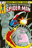The Spectacular Spider-Man Cover: Spider-Man, Peter Parker, and Human Torch Láminas por Mike Zeck