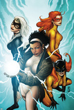 Marvel Divas No.3 Cover: Photon, Hellcat, Black Cat and Firestar Prints by Patrick Zircher