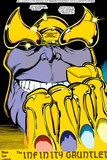 Infinity Gauntlet No.2 Headshot: Thanos Prints by George Perez