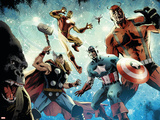 Avengers vs. Atlas No.1 Group: Thor, Iron Man, Captain America and Giant Man Posters by Gabriel Hardman