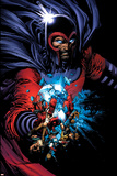 March On Ultimatum Saga Cover: Magneto Poster by David Finch