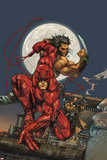 Astonishing Tales No.4 Cover: Daredevil, Wolverine and Punisher Posters by Kenneth Rocafort