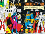 Infinity Gauntlet No.6 Group: Thanos, Nebula, Adam Warlock, Silver Surfer and Dr. Strange Fighting Posters by George Perez