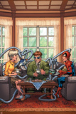Marvel Adventures Spider-Man No.33 Cover: Spider-Man, May Parker and Doctor Octopus Swinging Posters by Patrick Scherberger
