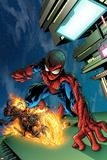 Timestorm 2009/2099 No.4 Cover: Spider-Man and Ghost Rider Plakater av Tom Raney