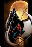 Ultimate Spider-Man No.80 Cover: Spider-Man and Moon Knight Prints by Mark Bagley
