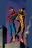 Ultimate Spider-Man No.91 Cover: Shadowcat and Spider-Man Posters by Mark Bagley