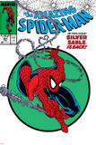 Amazing Spider-Man No.301 Cover: Spider-Man Swinging Plakat autor Todd McFarlane