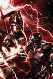 War Machine No.3 Cover: War Machine and Ares Print by Francesco Mattina