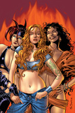 Witches 1 Cover: Satana, Topaz and Jennifer Prints by Mike Deodato