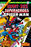 Giant-Size Super-Heroes No.1 Cover: Spider-Man, Morbius and Man-Wolf Fighting Poster by Gil Kane