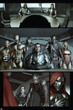 Dark Reign: The Cabal No.1 Group: Osborn, Norman, Hawkeye, Wolverine, Sentry and Ms. Marvel Prints by Adi Granov