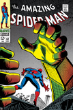 The Amazing Spider-Man No.67 Cover: Mysterio and Spider-Man Poster av John