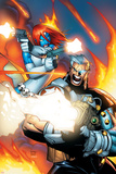 X-Men No.196 Cover: Mystique and Cable Plakater av Humberto Ramos