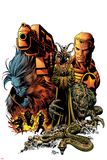 Secret Avengers No.8 Cover: Steve Rogers and Beast Posing Prints by Mike Deodato
