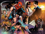 The Amazing Spider-Man No.545 Group: Spider-Man, Parker, Peter, Mary Jane Watson, and May Parker Bilder av Joe Quesada