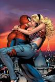 Spectacular Spider-Man No.25 Cover: Spider-Man, Stacy and Sarah Plakat af Greg Land
