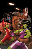 She-Hulks No.2 Cover: She-Hulk and Lyra Fighting Photo by Ed McGuinness