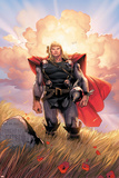 Thor No.10 Cover: Thor Jumping Posters par Olivier Coipel