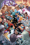 New X-Men No.22 Cover: X-23, Hellion, Rockslide, Dust, Surge and Mercury Prints by Mark Brooks
