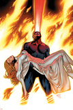 X-Men: Phoenix - Endsong No.4 Cover: Cyclops and Emma Frost Plakater af Greg Land