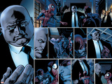 Ultimate Spider-Man No.110 Headshot: Spider-Man, Daredevil, Kingpin, and Vanessa Fisk Fighting Prints by Mark Bagley