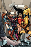 Dark X-Men No.3 Group: Iron Patriot, Wolverine, Ms. Marvel, Hawkeye, Ares and Sentry Fighting Posters by Kirk Leonard