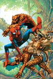 Marvel Age Spider-Man No.14 Cover: Spider-Man and Kraven the Hunter Fighting and Flying Posters by Roger Cruz