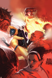 Marvel Divas No.4 Cover: Hellcat, Black Cat, Firestar and Photon Print