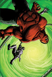 Hulk No.45 Cover: Red Hulk and Machine Man Fighting Prints by Patrick Zircher