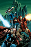 Thor No.81 Cover: Thor, Iron Man and Captain America Posters by Steve Epting