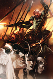 Thor God-Size Special No.1 Cover: Thor, Loki, Balder and Skurge Poster