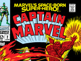 Captain Marvel No.2 Cover: Super Skrull and Captain Marvel Swinging Poster by Gene Colan