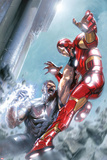 Avengers Annual No.1 Cover: Iron Man and Wonder Man Fighting Print by Gabriele DellOtto