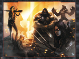 X-Force/Cable: Messiah War No.1 Group: Domino, X-23, Warpath and Wolfsbane Prints by Dave Wilkins