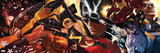 What If Civil War No.1 Cover: Hercules, Thor, Ms. Marvel, Iron Man, Thing and Wolverine Posters