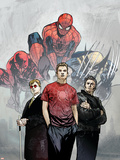 Powerless No.1 Cover: Spider-Man, Peter Parker, Wolverine, Daredevil, Matt Murdock and Logan Affiches par Michael Gaydos