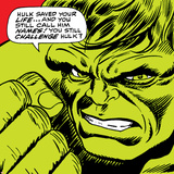Marvel Comics Retro: The Incredible Hulk Comic Panel Print
